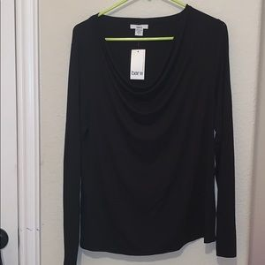 Bar III Aruba Cowl Neck Long Sleeve Top